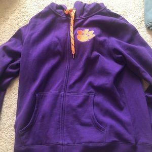 Jackets & Blazers - Hooded Clemson jacket sequins XL